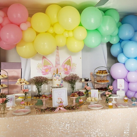 Organic Rainbow Balloon Garland