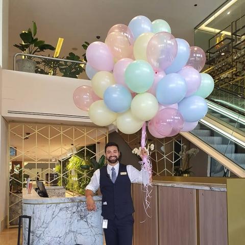 Pastel Helium Balloons