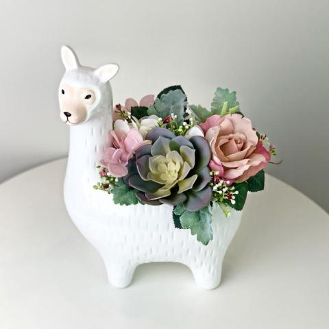 Sweet Llama Succulent Pot