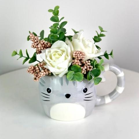 Kitty Forever Flower Pot
