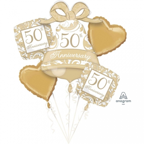 50th Gold Wedding Anniversary Bouquet