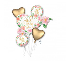 Sweet Baby Girl Heart Bouquet