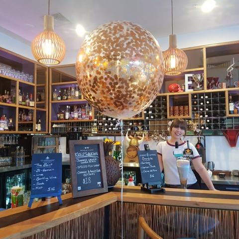 60cm Copper Confetti Balloon