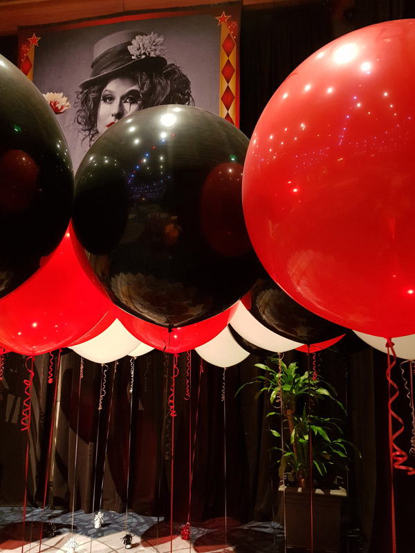Red & Black 60cm Balloons @ The Star