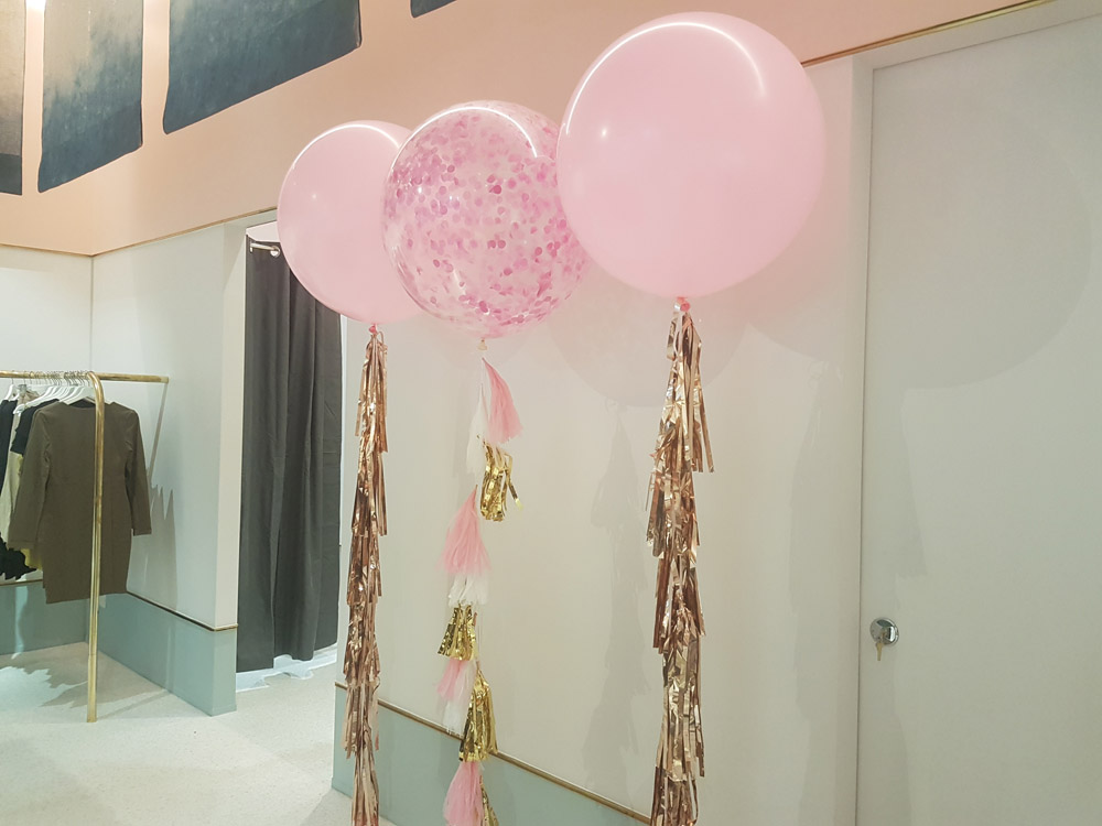 60cm Pale Pink Balloons with Tassels