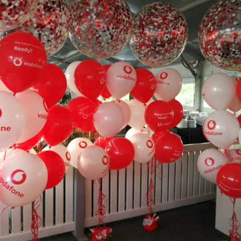 60cm Confetti Balloon Trees @ Vodafone GC600