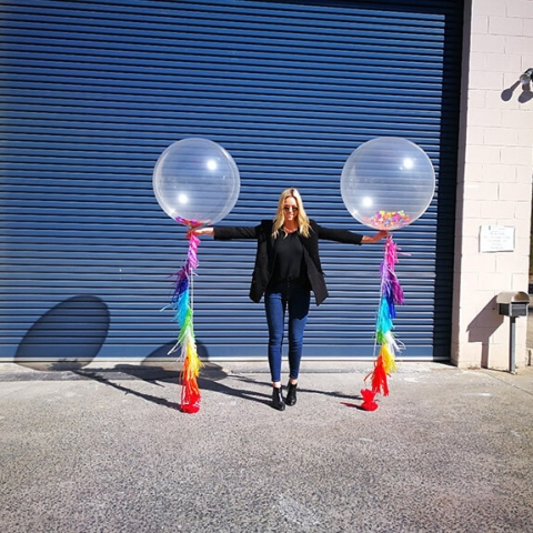 60cm Big Balloons w Tassels