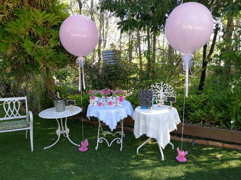 Tulle Covered 60cm Pink Balloons