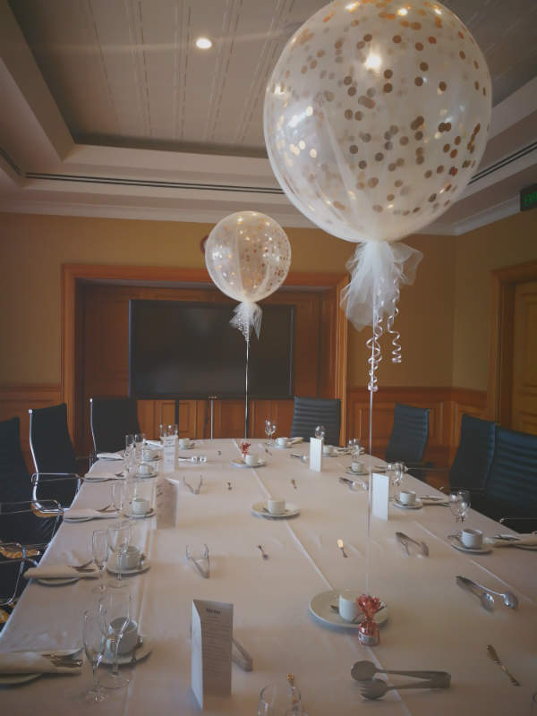Tulle Covered 60cm Confetti Balloons