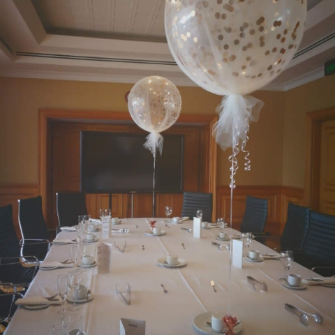 Tulle Covered Confetti Balloons