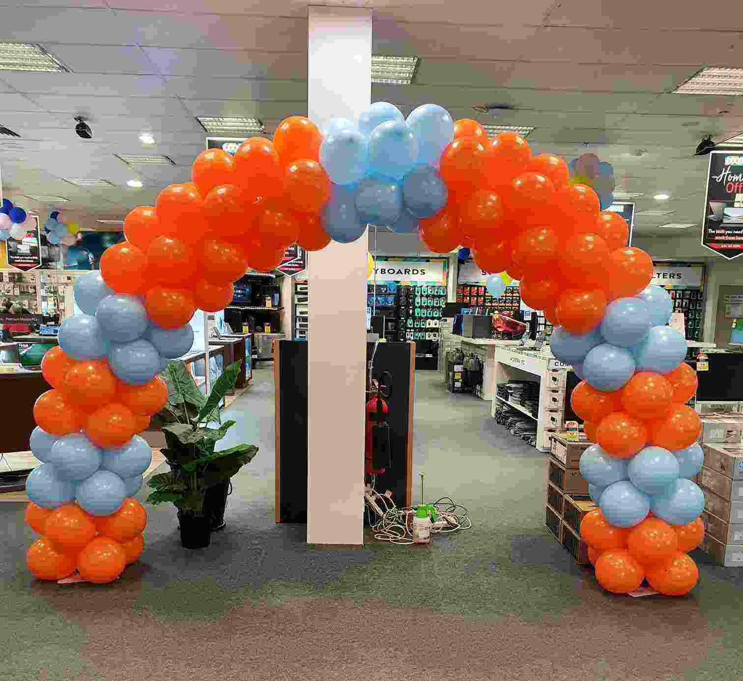 Orange Blue Balloon Arch