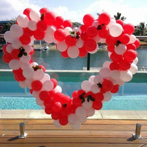 Organic Balloon Heart